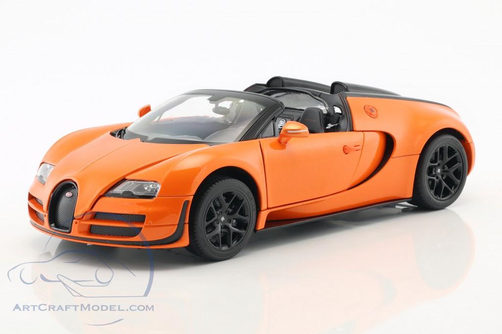 Bugatti Veyron 16 4 Grand Sport Vitesse Orange Black Rat43900or