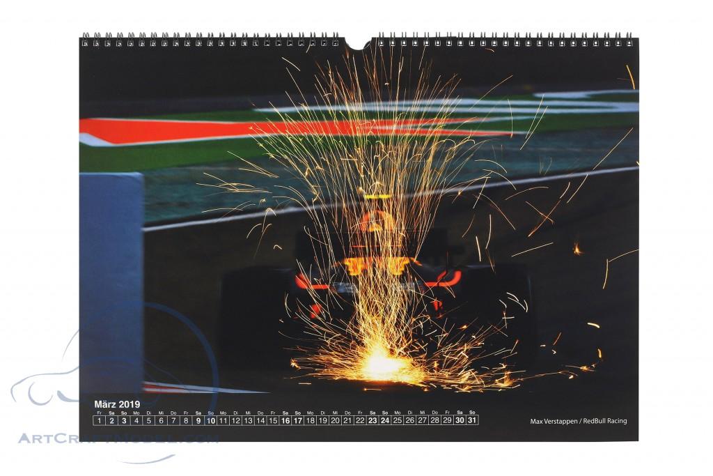 Formel 1 2019 Hochglanz Monats-Wandkalender 42 x 29,7 cm von Jerry Andre