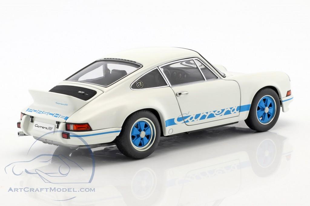 1:18 Autoart Porsche 911 Carrera RS 2.7 1973 White Blue