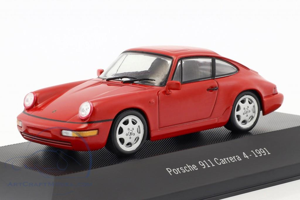 Carrera 4 Baujahr 1991 rot 1:43 Atlas 964 Porsche 911