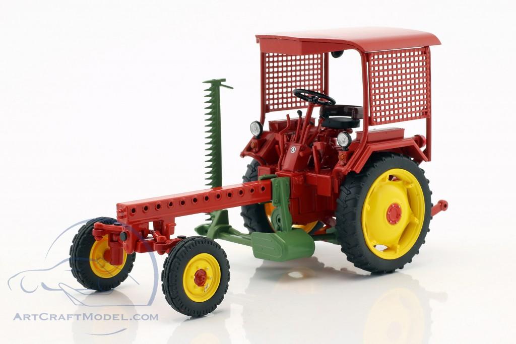 Fortschritt RS09-GT 124 Traktor mit Mähbalken rot