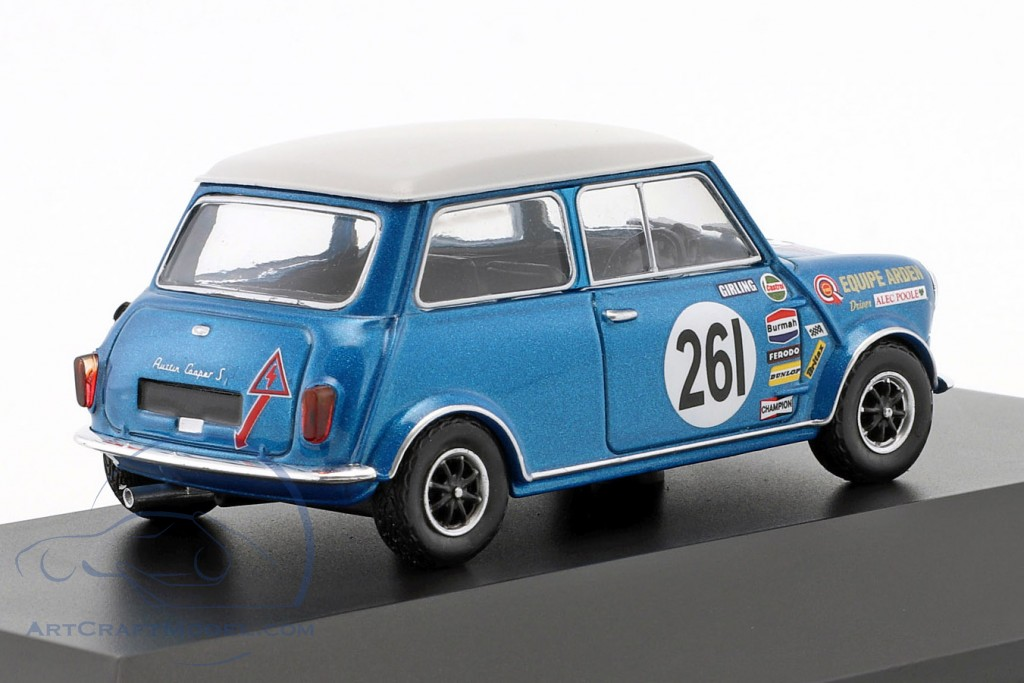 ATLAS 1//43 EQUIPE ARDEN AUSTIN MINI COOPER S #261 BTCC CHAMPION ALEC POOLE 1969