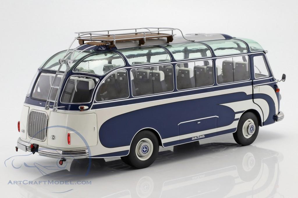 Setra S6 Bus Baujahr 1956 blau / weiß