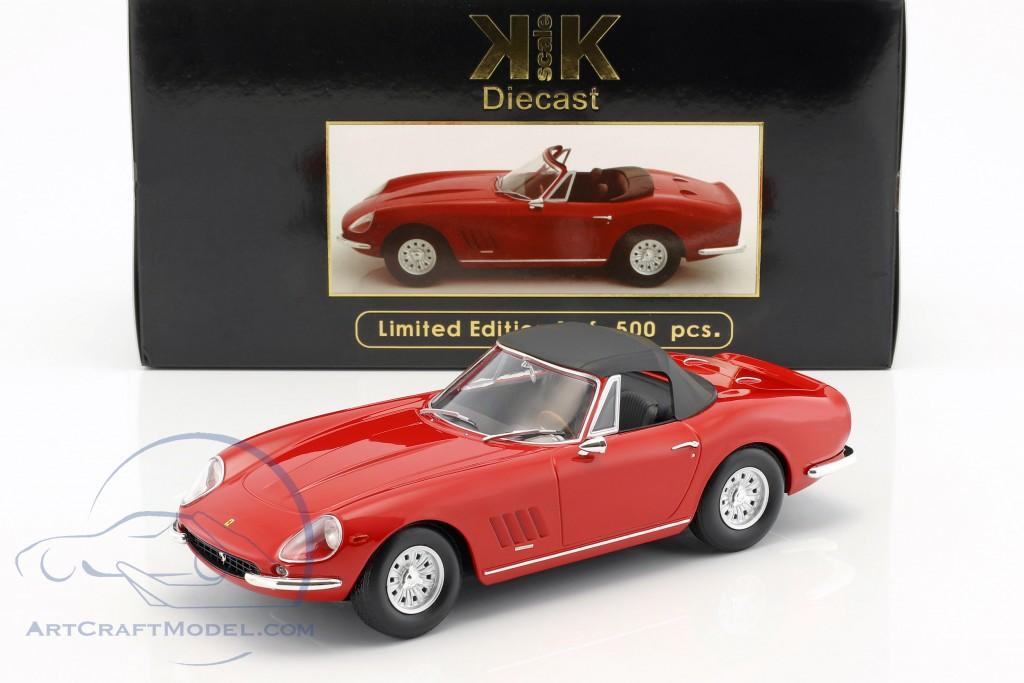 Automotive Cars 1:18 Ferrari 275 Gtb 4 Nart Spyder With Softtop Red 1967 Kk