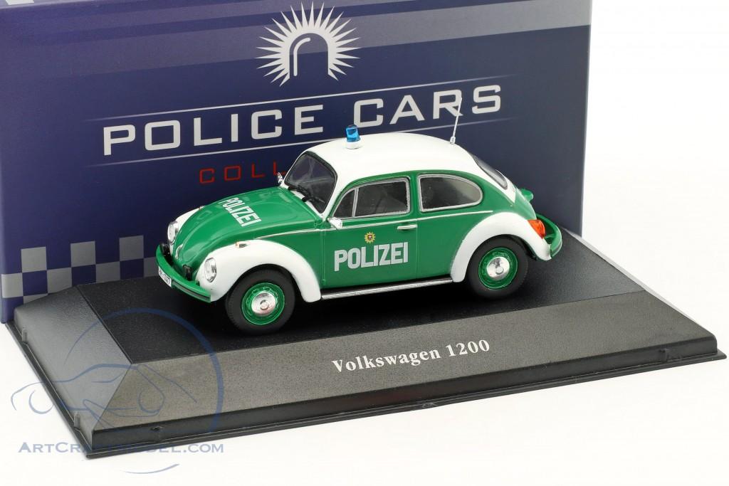 Volkswagen VW Käfer 1200 Polizei Deutschland Baujahr 1977 grün / weiß