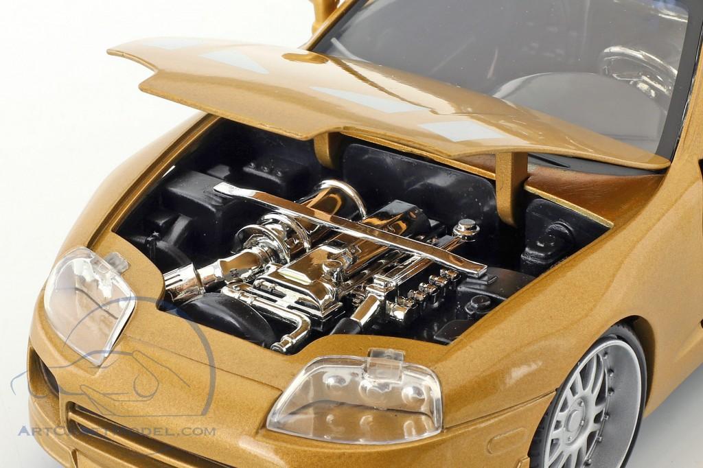 Slap Jack's Toyota Supra year 1995 Movie 2 Fast 2 Furious (2003) gold  Jada Toys