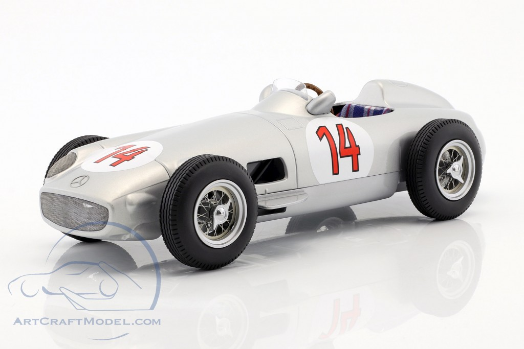Stirling Moss Mercedes-Benz W196 #14 2nd Belgien GP Formel 1 1955