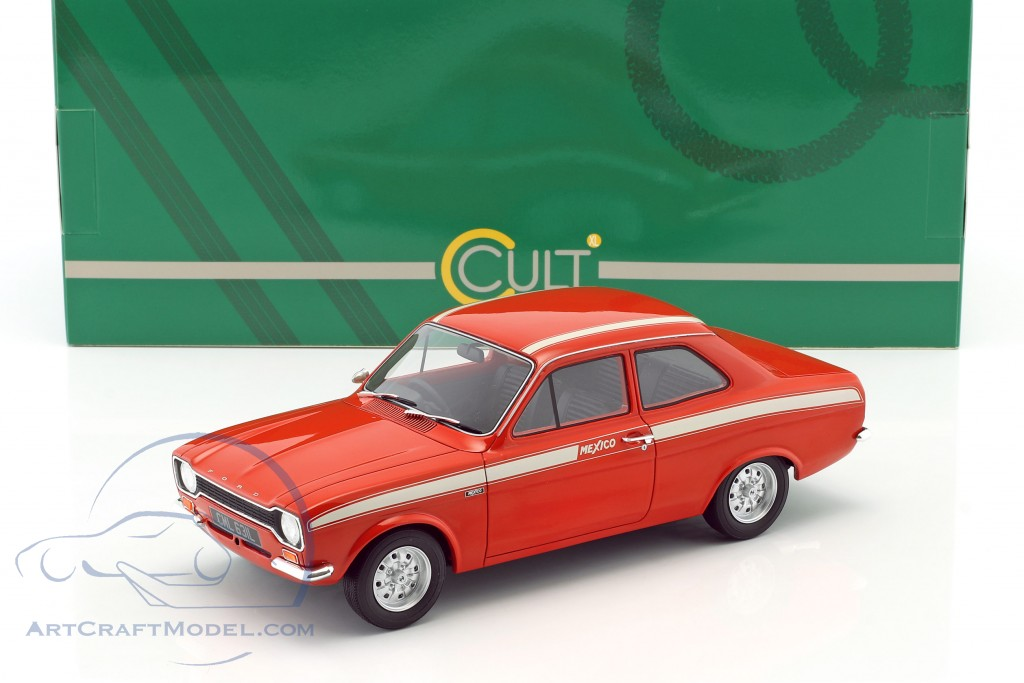 Ford Escort Escort MK1 Mexico Baujahr 1973 rot / weiß  Cult Scale