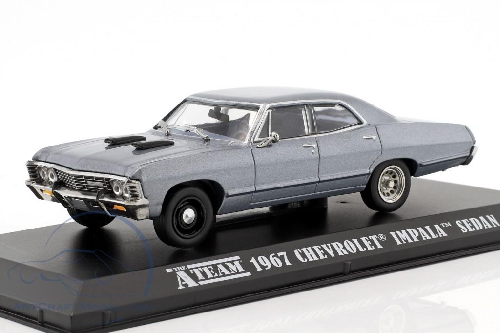 Chevrolet Impala Sport Sedan Year 1967 Tv Series The A Team 1983 87 Blue Gray 86527 Ean 819725021470