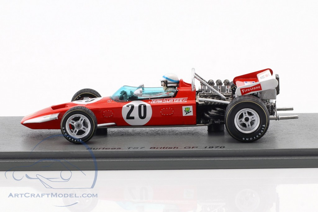 John Surtees Surtees TS7 #20 British GP Formel 1 1970