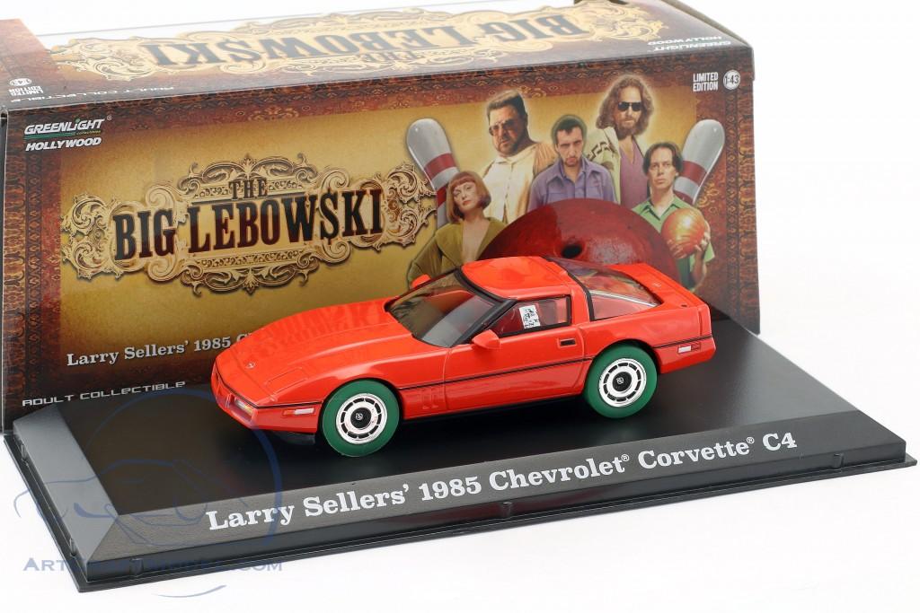 Larry Sellers' Chevrolet Corvette C4 Baujahr 1985 The Big Lebowski (1998) rot / grün