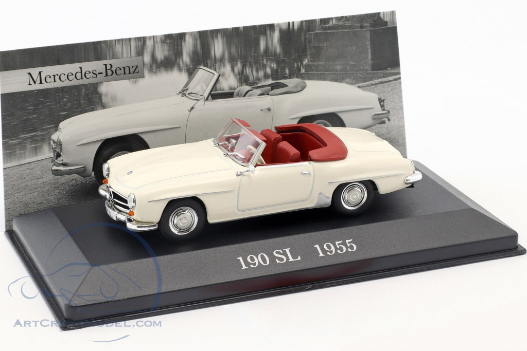Mercedes Benz 190 Sl W121 B2 Year 1955 Cream White Altaya Ck9991552 5