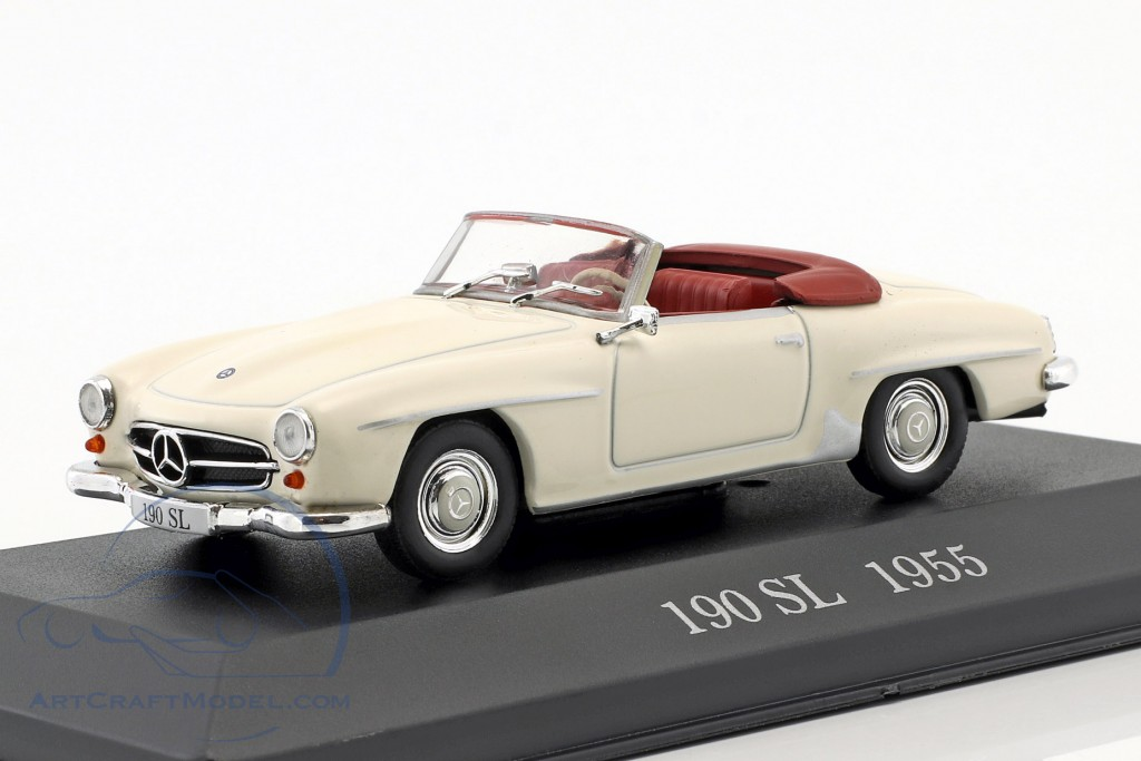 Mercedes Benz 190 Sl W121 B2 Year 1955 Cream White Altaya