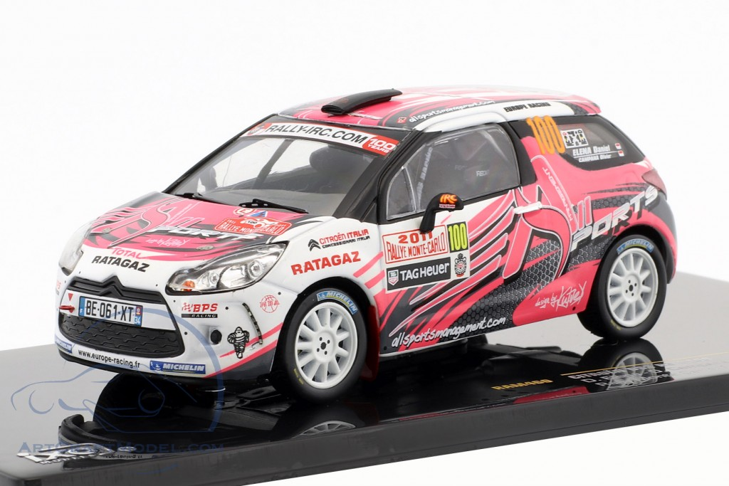 Citroen DS3 R3 #100 Rally Monte Carlo IRC 2011 Elena, Campana