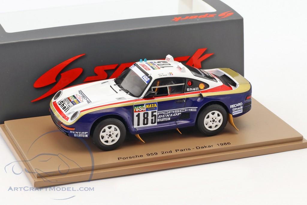 Porsche 959 #185 2nd Rallye Paris - Dakar 1986 Ickx, Brasseur