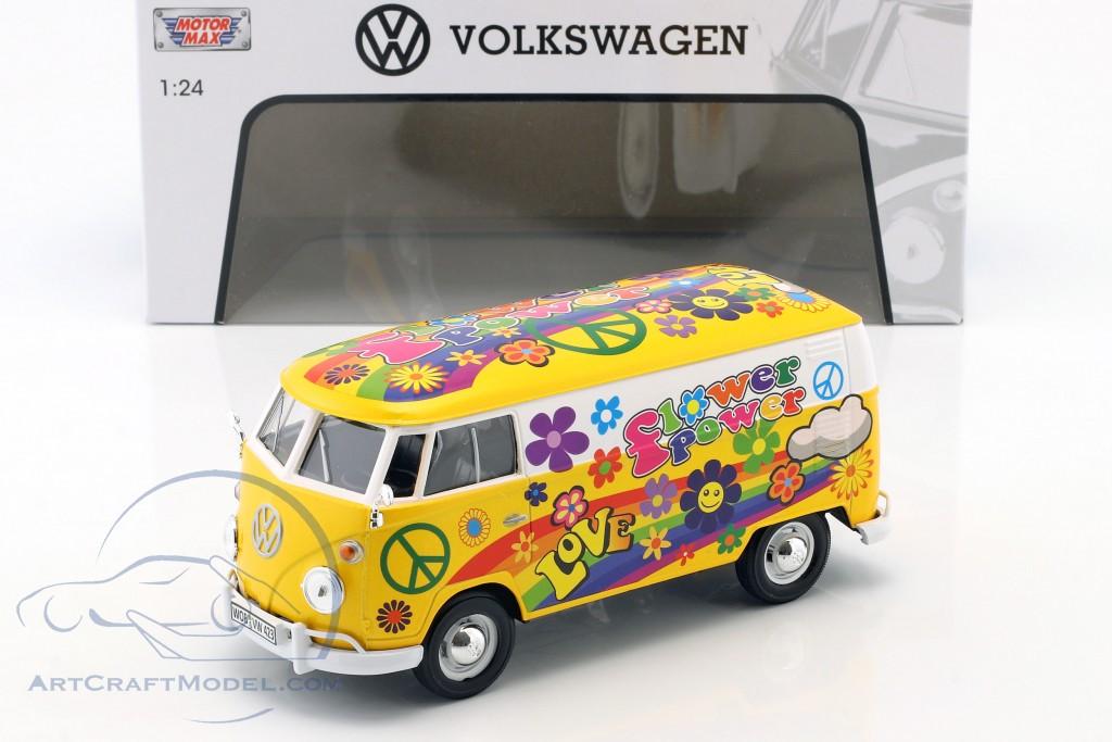Volkswagen VW Type 2 T1 van Flower Power 2 yellow / orange