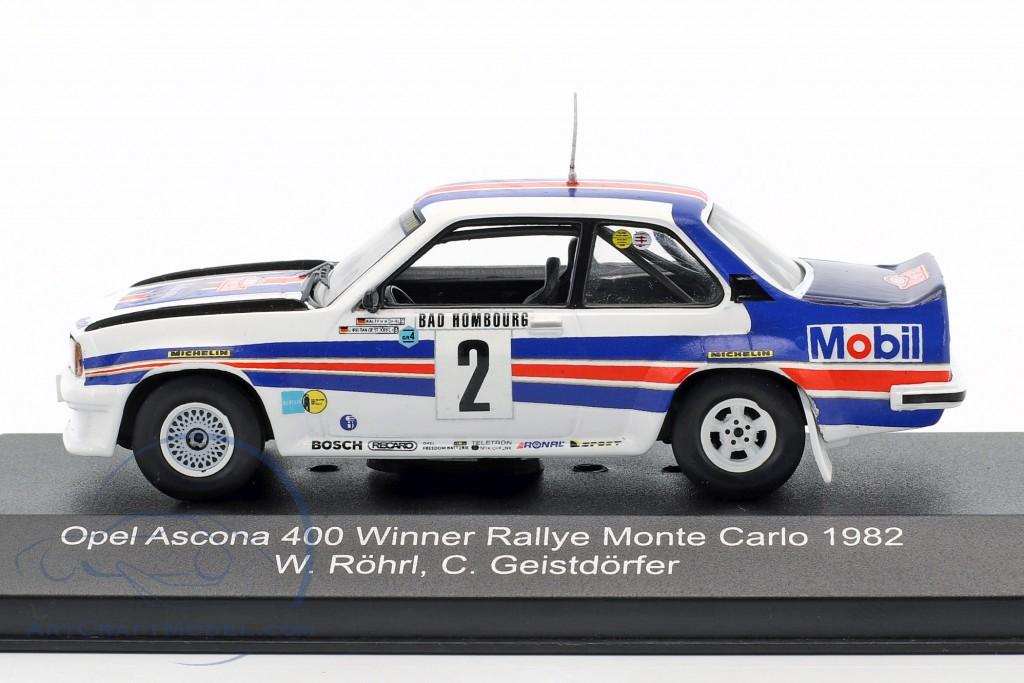 C Geistdorfer 1:43 Model Rohrl Opel Ascona 400 #2 Winner Monte Carlo 1982 W