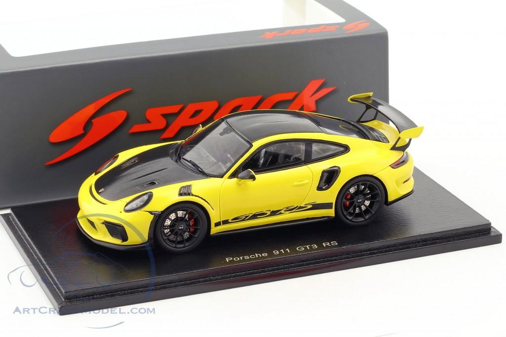 Porsche 911 (991 II) GT3 RS Weissach Package 2018 gelb / schwarz
