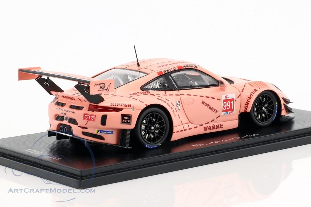 Porsche 911 GT3 R Pink Pig #991 China GT Championship Shanghai 2018