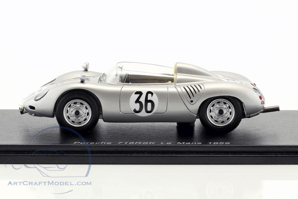Porsche 718 RSK #36 24h LeMans 1959 de Beaufort, Heins
