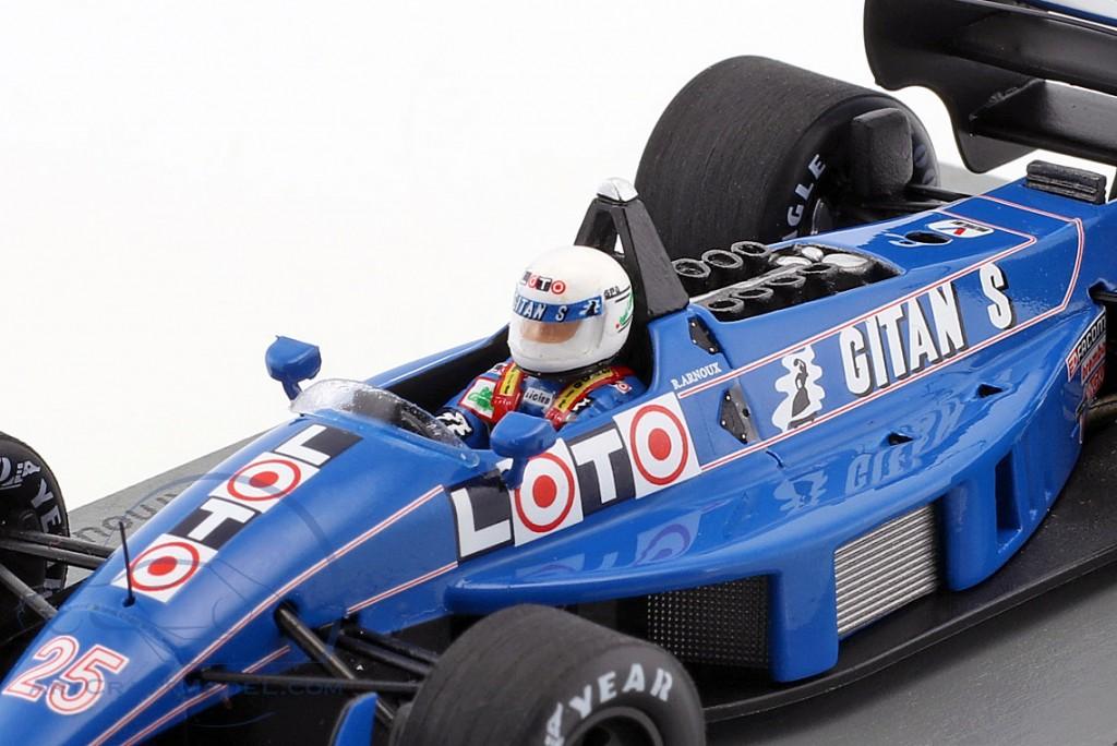 Rene Arnoux Ligier JS31 #25 Monaco GP Formel 1 1988