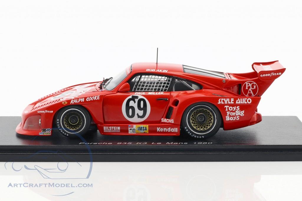 Porsche 935 K3 #69 24h LeMans 1980 Akin, Miller, Kent-Cooke