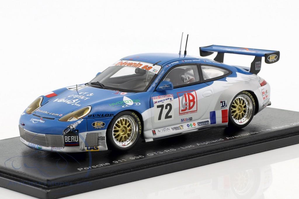 Porsche 911 (996) GT3 RS #72 24h LeMans 2002 Alphand, Thevenin, Lavielle