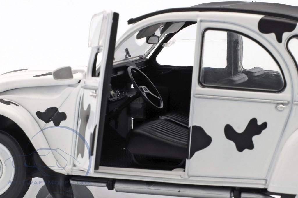 Citroen 2CV6 Vache Baujahr 1986 weiß / schwarz