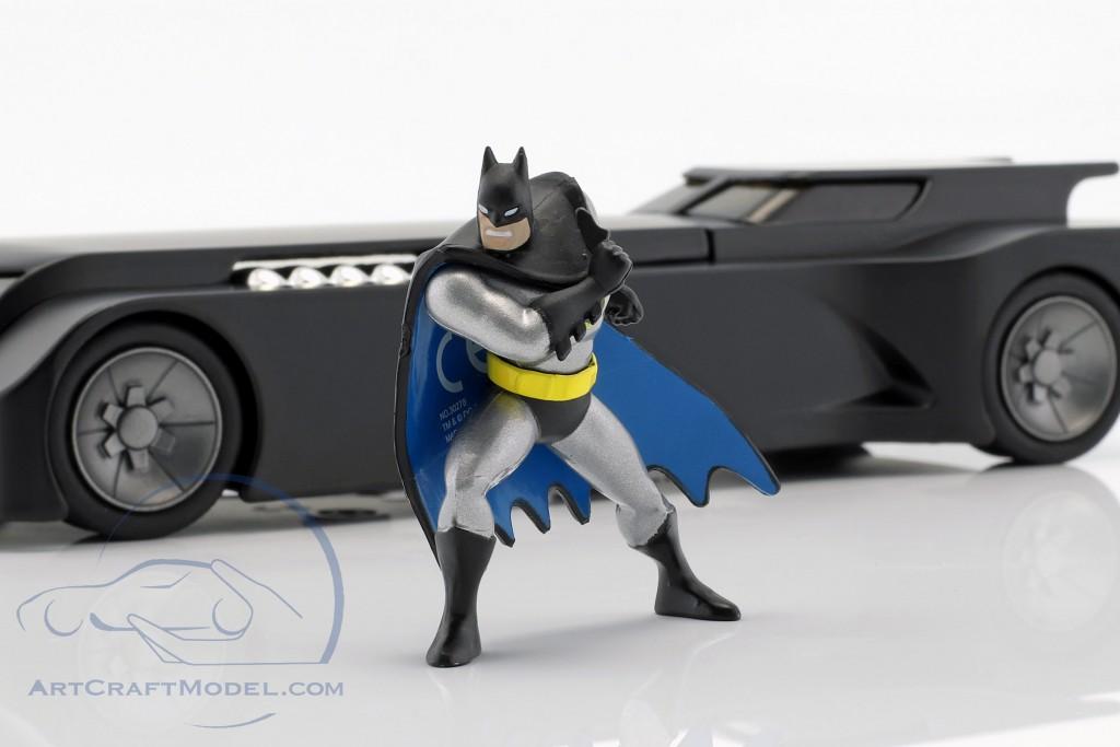 Car 1:24 Jada Batmobile Batman Justice League 2017 Matte Gray with Figure