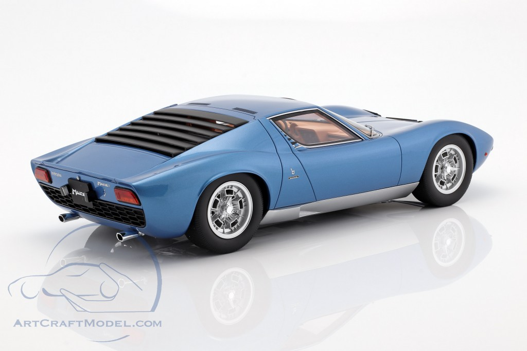 Lamborghini Miura P400s Year 1969 Tahiti Blue Gt Spirit Gts12501bl