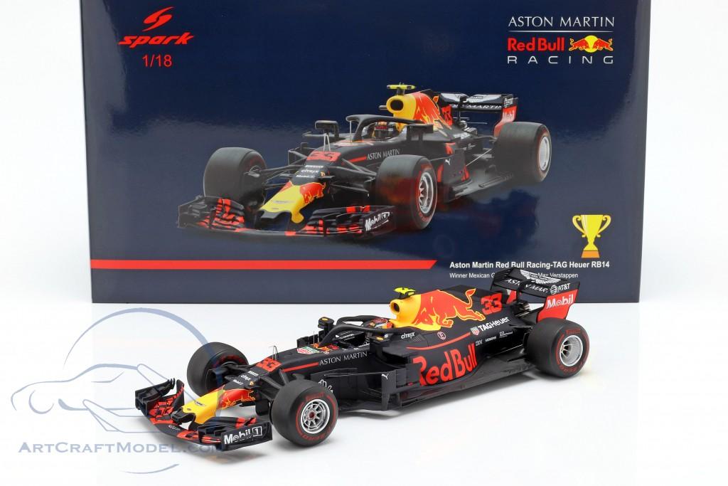 Max Verstappen Red Bull Racing RB14 #33 Winner Mexico GP formula 1 2018