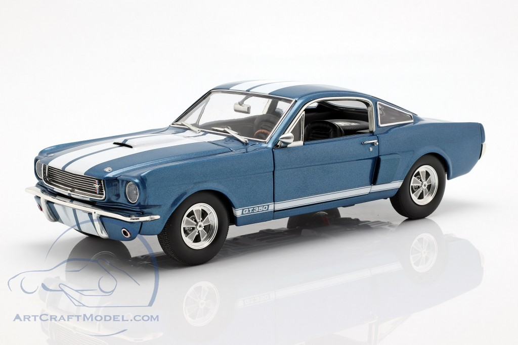 Shelby GT350 Supercharged year 1966 blue with white stripes