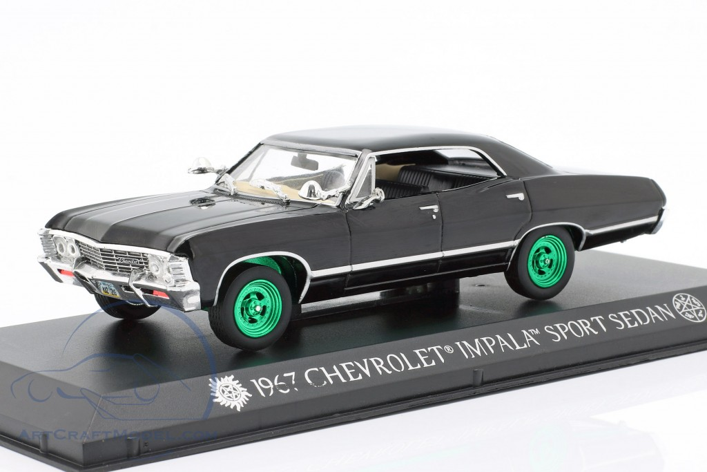 Chevrolet Impala Sport Sedan 1967 TV series Supernatural (2005) black / green