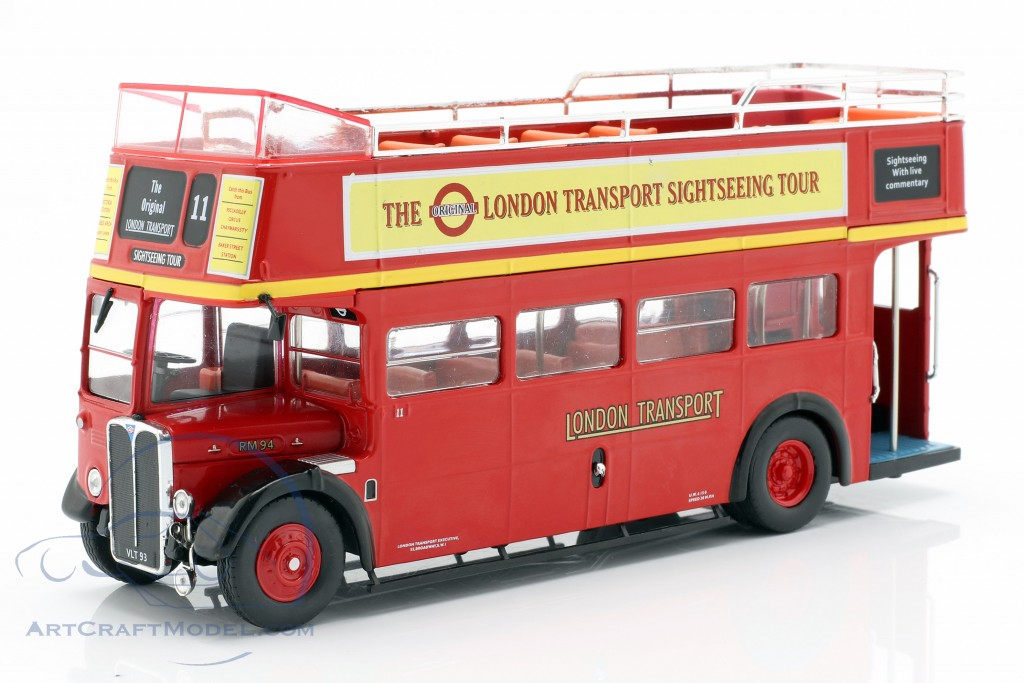 AEC Regent RT Open Top London Sightseeing year 1950 red