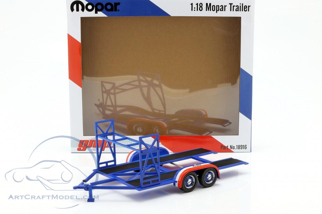 tandem Car trailer Mopar blue / white / red