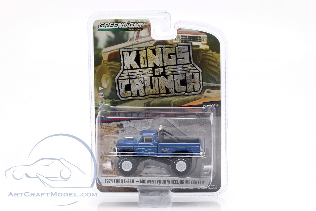 Ford F-250 Monster Truck Kings of Crunch year 1974 blue
