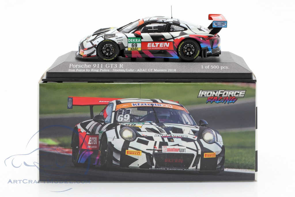Porsche 911 (991) GT3 R #69 GT Masters 2018 Iron Force by Ring Police