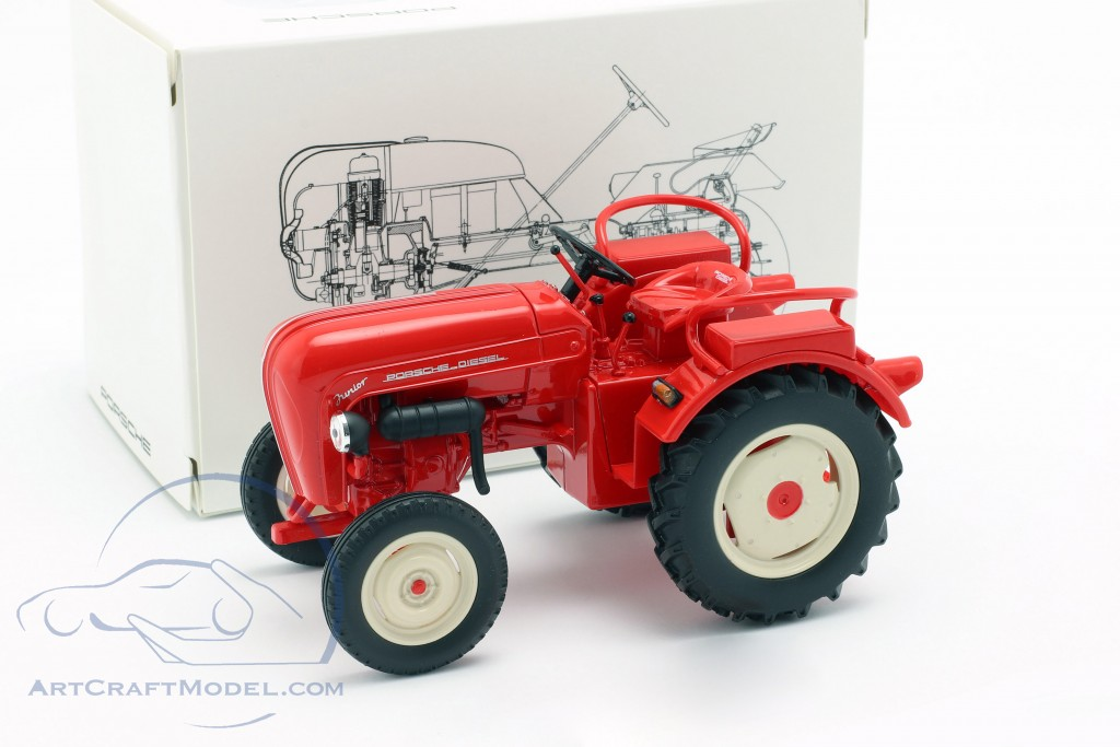 Porsche Junior tractor red