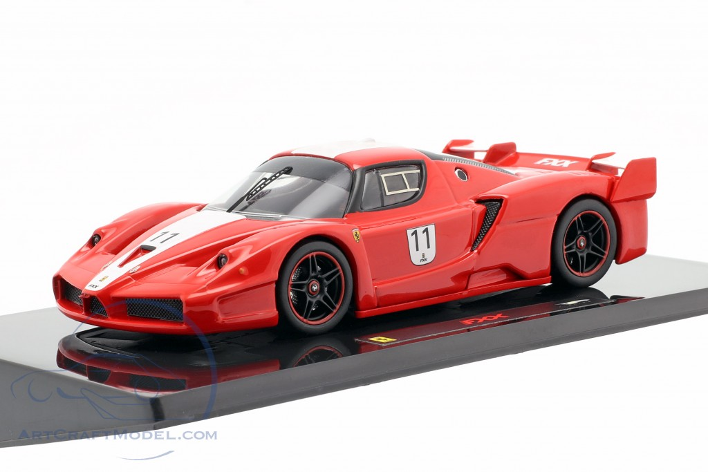 Ferrari FXX #11 red with white stripes