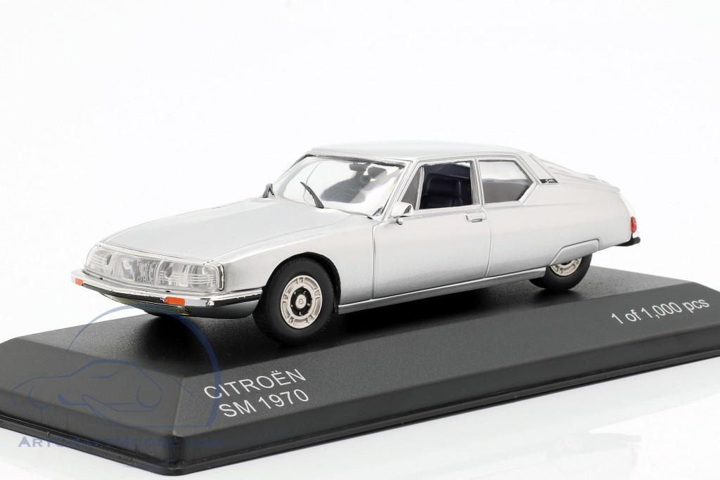 Citroen SM 1970 silber Modellauto 1:43 Whitebox
