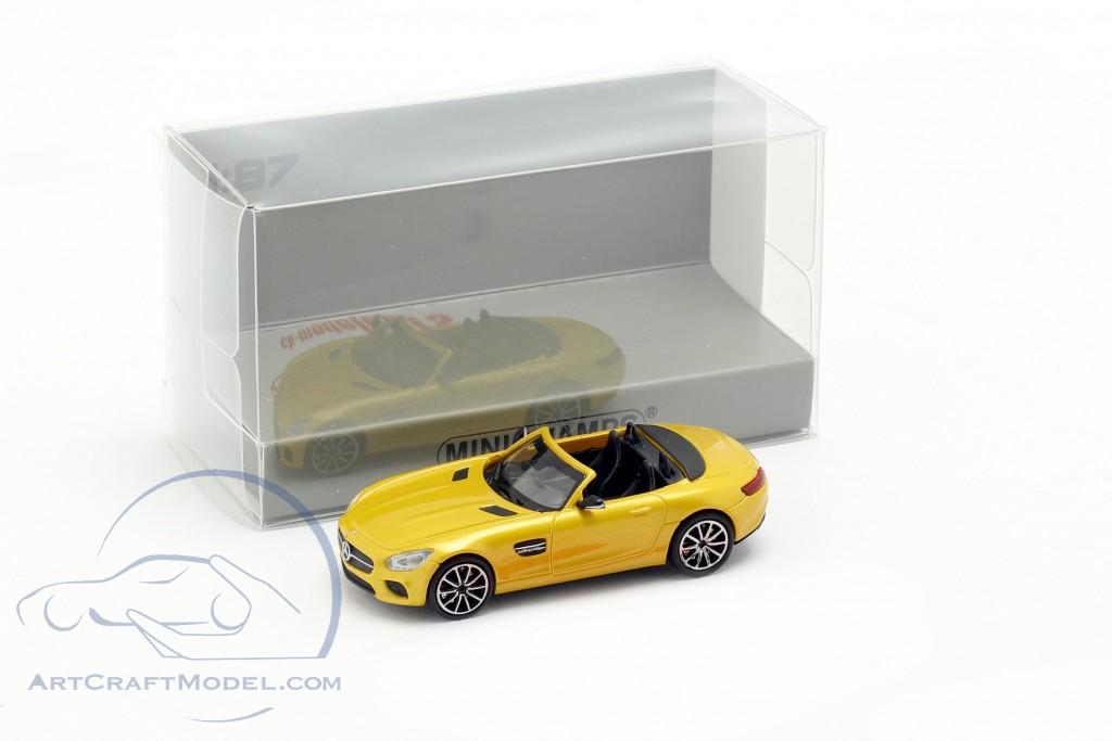 Mercedes-Benz AMG GT S Roadster year 2015 yellow metallic