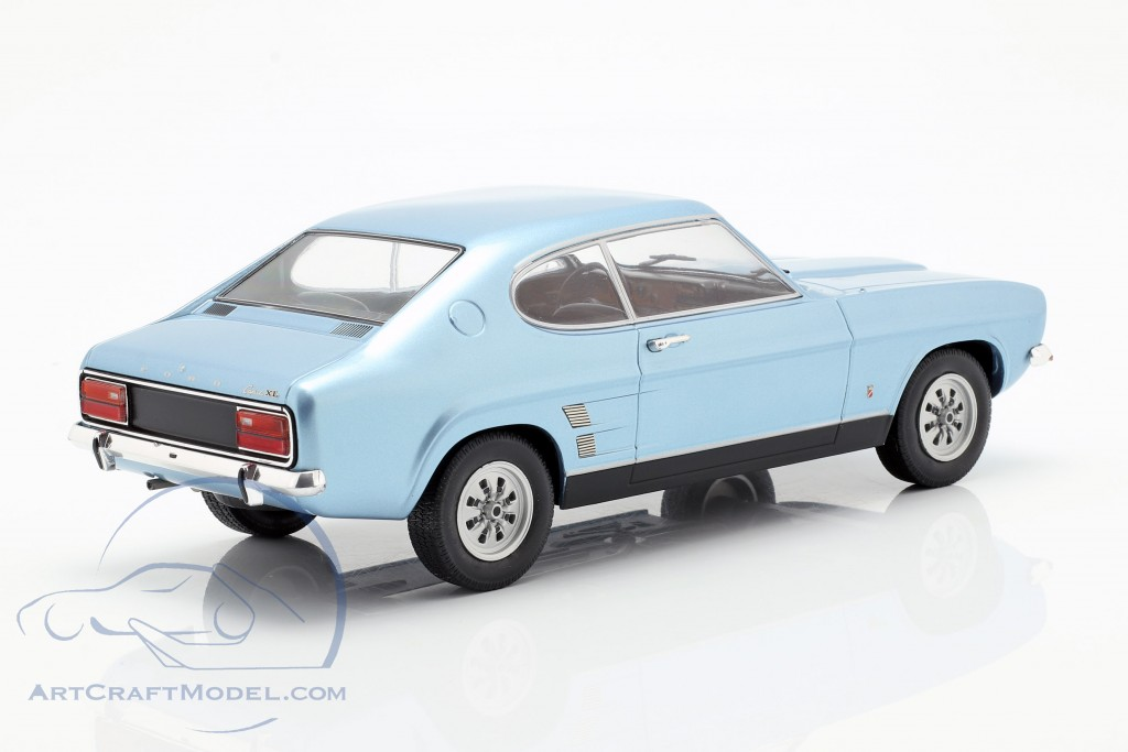 Ford Capri MK I 1600 GT year 1973 light blue metallic  Model Car Group