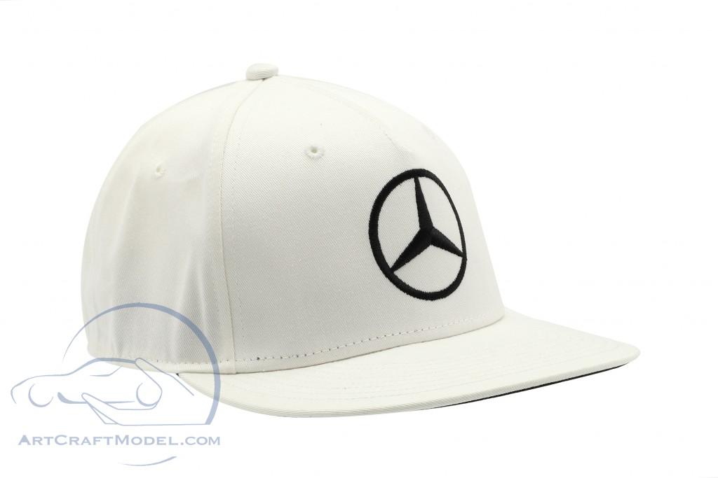 ab68c6f82 L. Hamilton Flat Brim Cap Mercedes AMG Petronas formula 1 World Champion  2018 white