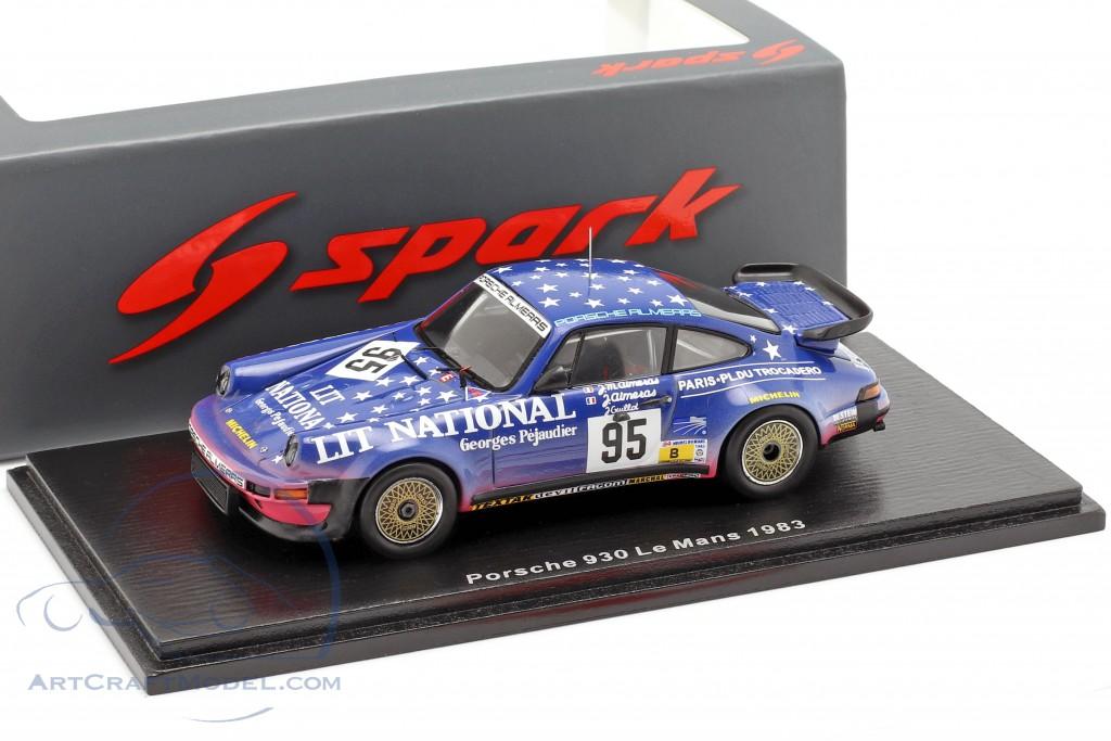 Porsche 930 Equipe Almeras Freres 24h Le Mans 1984 Winters 1:43 Spark 4416 NEU