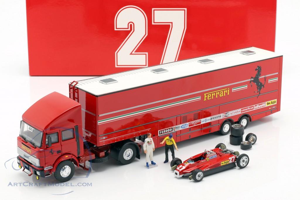 Race Transporter Set Fiat Iveco 190 And Ferrari 126c2 Formula 1 1982