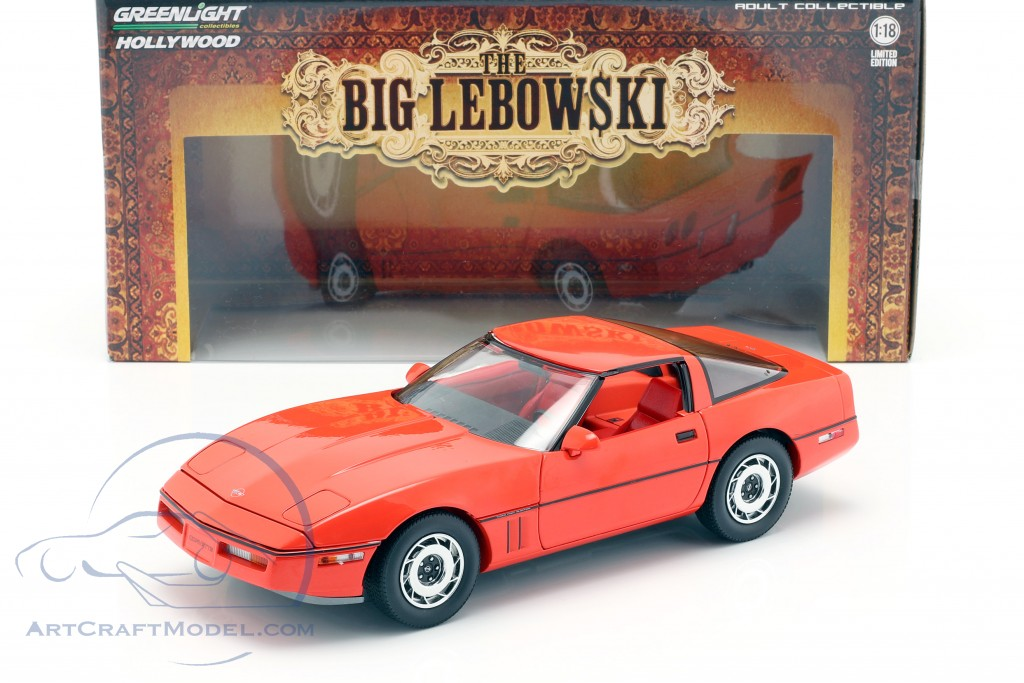 Larry Sellers' Chevrolet Corvette C4 year 1985 Movie The Big Lebowski (1998) red