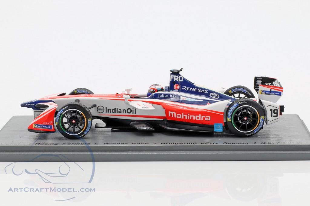 Felix Rosenqvist Mahindra M4Electro #19 Winner HongKong formula E 2017/18