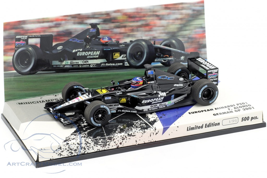 Formula 1 Auto Collection 1:43 n° 162 Minardi Ps01 Fernando Alonso 2001