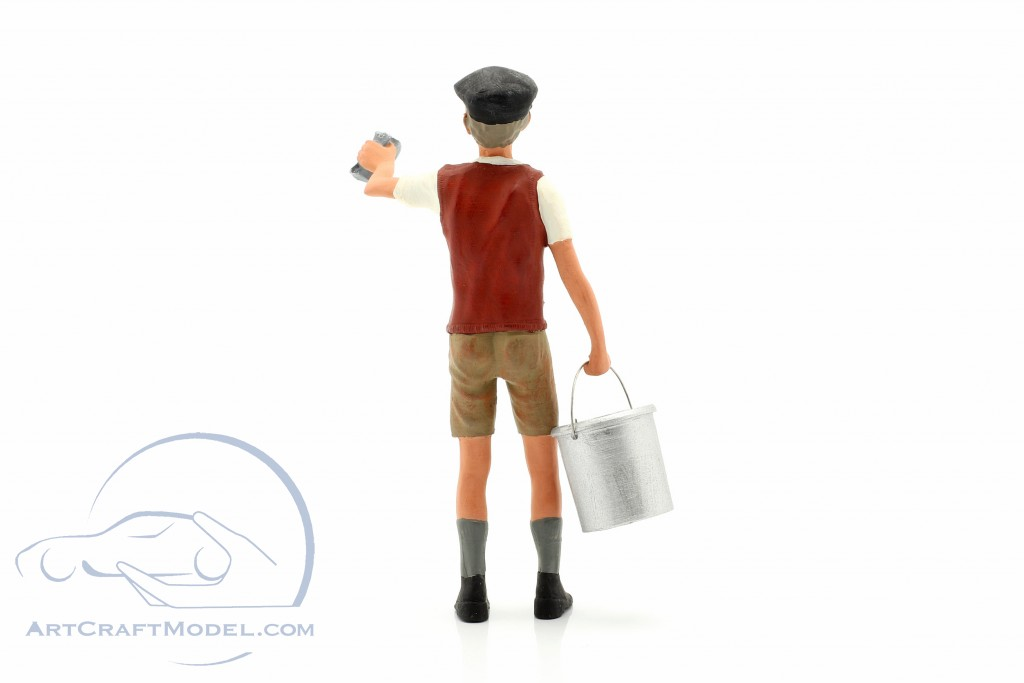 Shine Boy with rags and buckets Figure  shows manufactory
