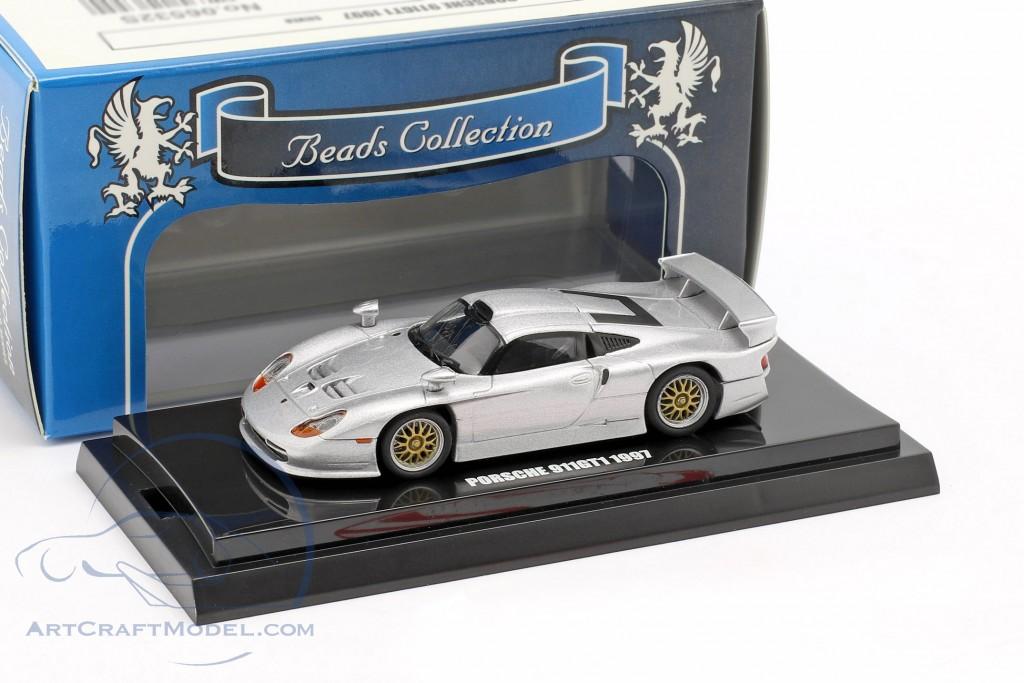 Porsche 911 GT1 year 1997 silver metallic